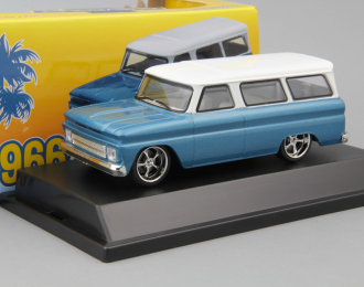 CHEVROLET Suburban (1966), blue with white roof