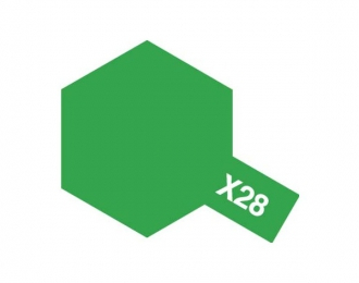 X-28 Park Green (краска эмалевая, травяной зеленый глянцевый), 10мл.