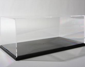Прозрачный бокс C 240х130х110мм с черной подставкой
