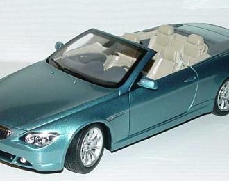 BMW 6er Cabrio E64 (2004), atlantik blau met.