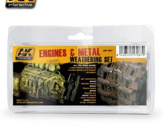 Набор для нанесения эффектов ENGINES AND METAL WEATHERING SET(везеринг двигателя и металла)