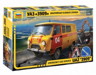 Сборная модель УАЗ 3909 Аварийно-газовая служба