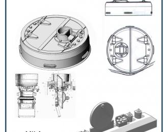 Смолянные наборы дополнений Командирская башня  Т-34-76-литая закрытая (ZVEZDA)