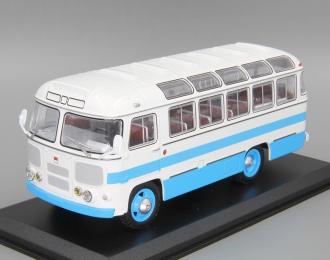 Павловский автобус 672, бело-голубой