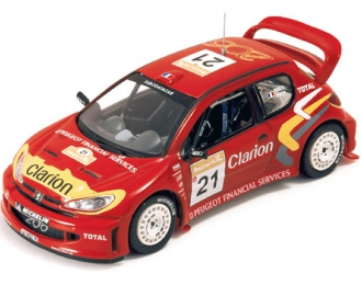 PEUGEOT 206 WRC Clarion G.Panizzi Turkey Rally (2003), red