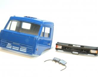 Дневная кабина для КАМАЗ (Евро-2, пластиковый бампер), синий