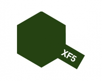 XF-5 Flat Green (краска эмалевая, зеленый матовый), 10мл.