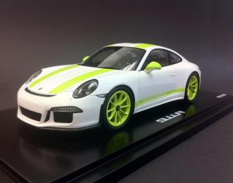 Porsche 911 R 2016 белый с зеленым