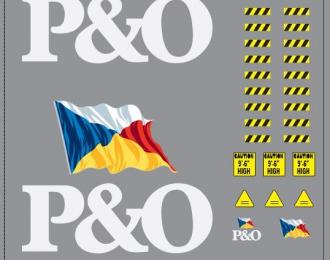 Набор декалей Контейнеры P&O (вариант 1) (100х140)
