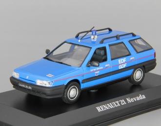 RENAULT 21 Nevada EDF-GDF (1985), blue