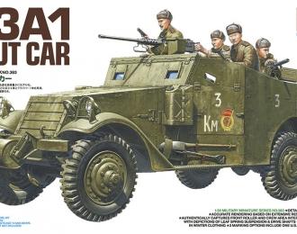 Сборная модель M3A1 SCOUT CAR разведывательный бронеавтомобиль с пятью фигурами советских солдат.НОВИНКА!!!
