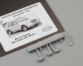 Брызговики Mercedes ML W163 4 шт. (178), смола