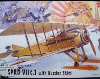 Сборная модель Французский истребитель Spad VII c.1 (на лыжах)