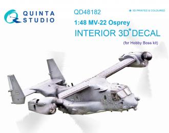 3D Декаль интерьера кабины MV-22 Osprey (для модели HobbyBoss)