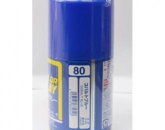 Аэрозольная краска (100 мл) COBALT BLUE (в баллоне)