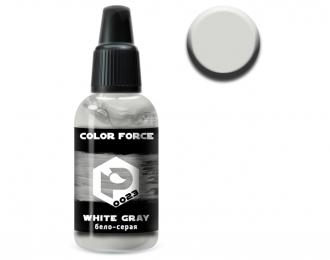 Краска для аэрографии Бело-серая (White-gray)