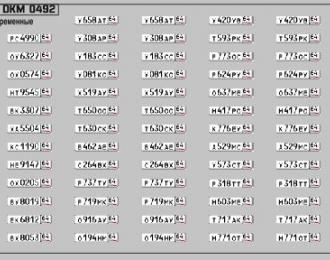 Набор декалей Номерные знаки России Саратовская область (100х70)