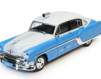 PONTIAC Chieftain Полиция Кубы (1954), Полицейские Машины Мира 75, бело-голубой