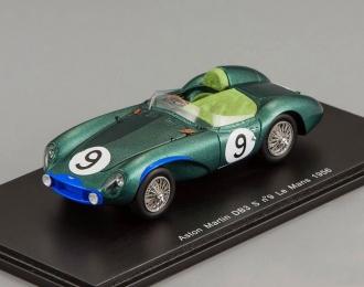 ASTON MARTIN DB3 S #9 Le Mans P. Walker - R. Salvadori (1956), green