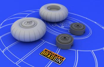 Набор дополнений Bf 110 C/D main undercarriage wheels