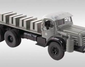 BERLIET TBO 6х4 баластный тягач для T100 (1957), grey