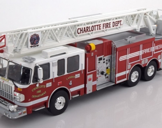 """SMEAL Spartan Gladiator 105 RM Ladder """"Charlotte Fire Department"""" (2014), red / white"""