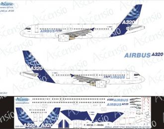 Декаль на самолет Arbus A320-200 (Arbus Industri (домашние цвета))