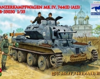 Сборная модель Pzkpfw. Mk IV, 744(e) [A13] and UE Trailer