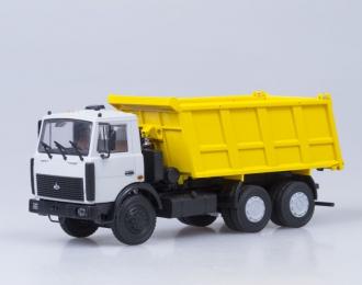 МАЗ 5516 самосвал, серый / желтый