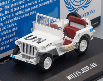 """JEEP Willys C7 """"United Nations"""" (1950), white"""