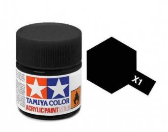 X-1 Black (краска акриловая, глянцевый черный), 10 мл.