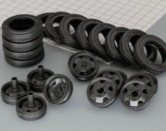 Резина, диски для Горький ААА, компл. из 12 колес