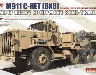 Сборная модель Американский тягач M911 с полуприцепом M747