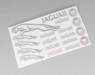 Наклейка объёмная металлизированная логотипы Jaguar