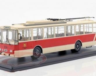 троллейбус SKODA 14TR Potsdam 1981 Beige/Red