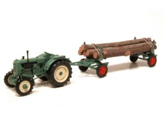 MAN 4S2 Tractor + Trailer Legno (green)
