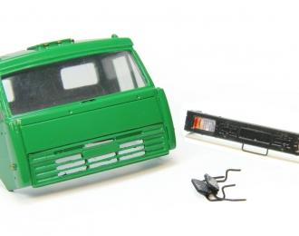 Дневная кабина для КАМАЗ (Евро-2, плоский бампер), зеленый