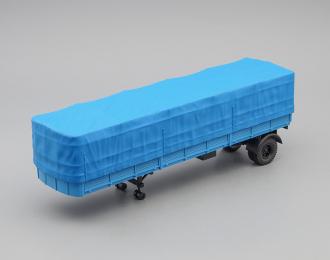 МАЗ 93801/2 полуприцеп с тентом, синий