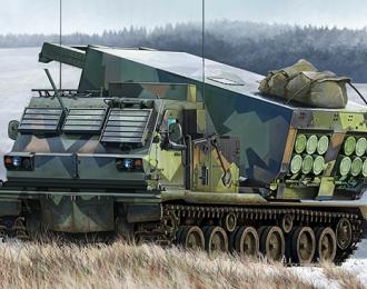 Сборная модель M270/A1 multi-barrel rocket system