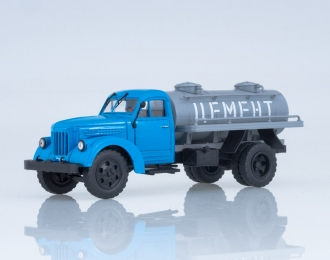 Автоцистерна АЦПТ-2,2 (355М) Цемент, голубой / серый