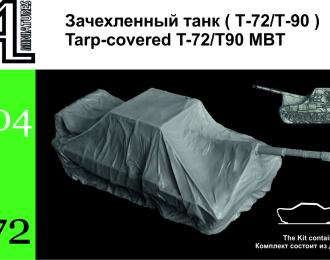 Сборная модель Зачехленный танк ( Т-72/ Т-90)