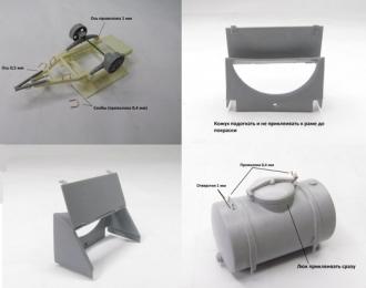 Сборная модель Прицеп-бочка с краном