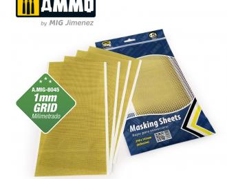 Маскировочная бумага 1мм сетки (размер 290х145мм, 5 листов)