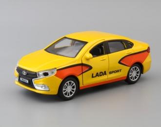 LADA Vesta Спорт, yellow