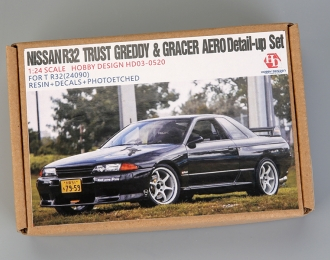 Конверсионный набор Nissan R32 Trust Greddy & Gracer Aero Detail-up Sets для моделей T R32(24090)(Resin+PE+Decals)