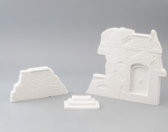 Сборная модель Фрагменты здания для диорам (вариант 1)