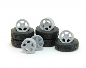 """Резина Я-569 """"Медведь"""" с дисками TG Racing LZ566, комплект 5 колес"""