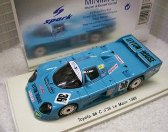 TOYOTA 86 C, 36 LM 1986 G. Lees - G. Nakajima - M. Sekiya, blue