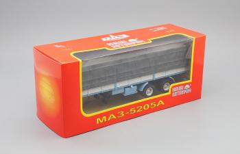 МАЗ 5205А полуприцеп с тентом, голубой с серым