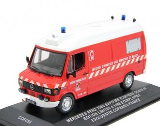 MERCEDES-BENZ 308D Van Sapeurs Pompiers Cogolin, red